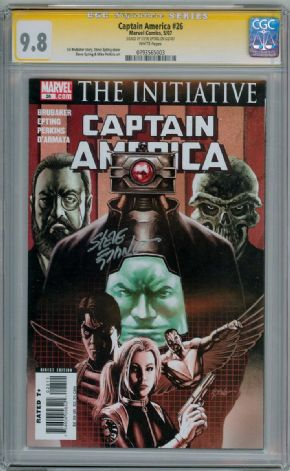 Captain America #26 CGC 9.8 Signature Series Signed Steve Epting Marvel comic book